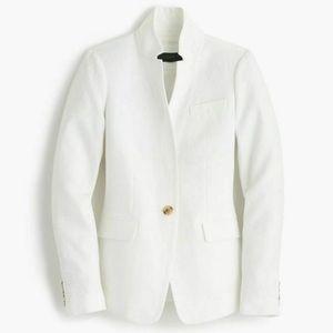 J Crew Regent Blazer Linen Jacket White Size 16